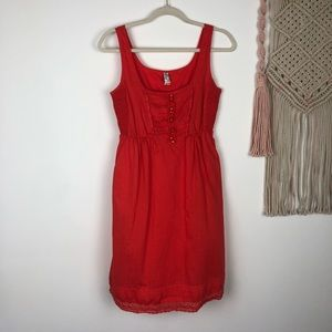MAEVE Anthro red sundress with pockets size XS